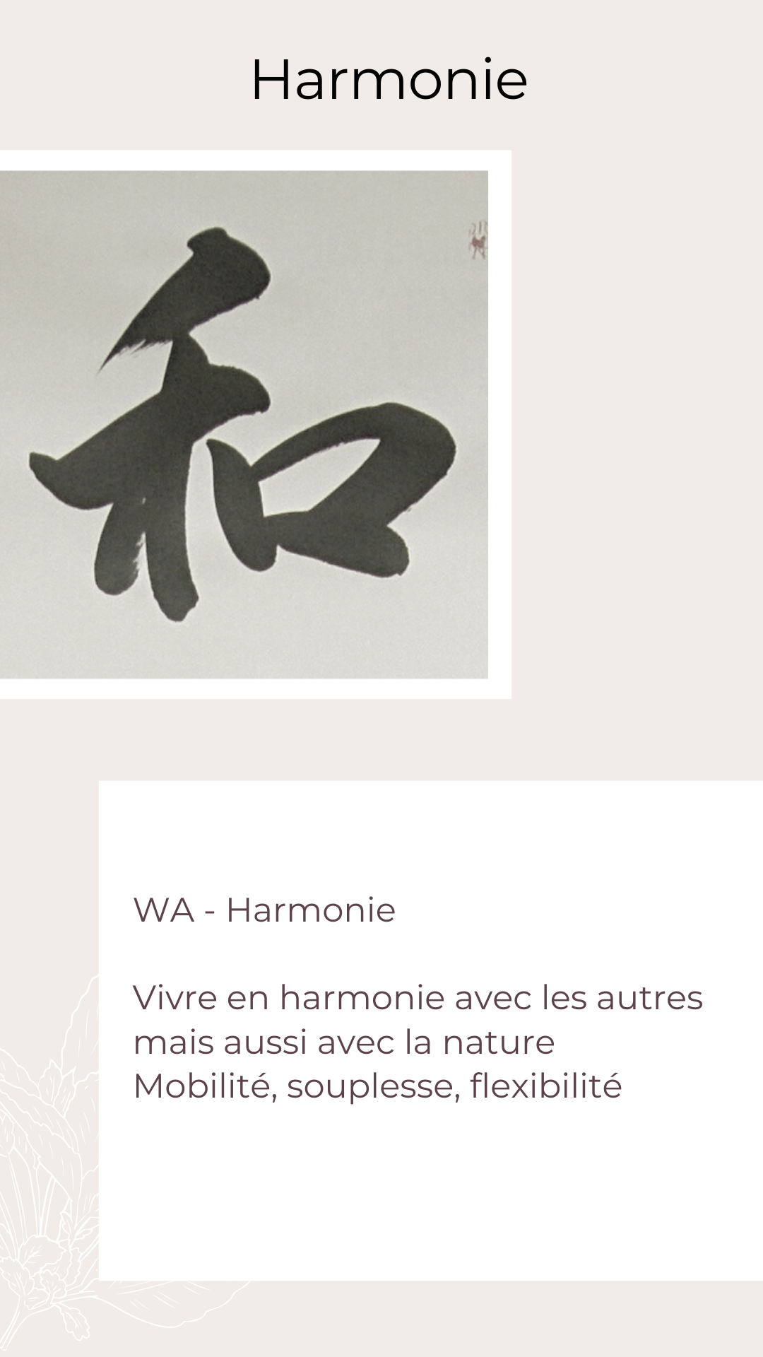Valeurs Libéractrice - Harmonie